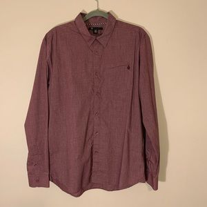Men's Large Volcom long sleeve button down shirt.
